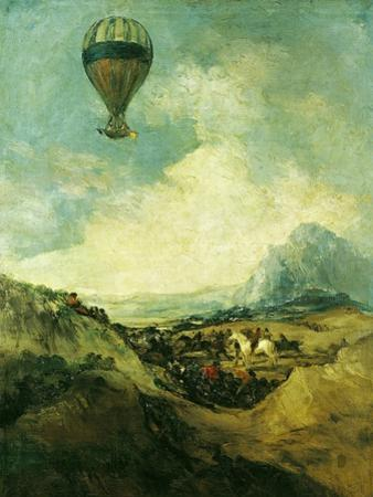 The Balloon Or, the Ascent of the Montgolfier by Francisco de Goya