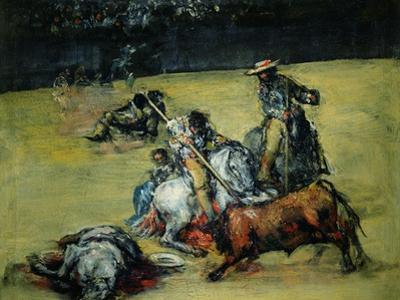 The Bullfight, circa 1825 by Francisco de Goya