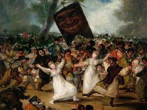 The Burial of the Sardine circa 1812-19 (Detail) by Francisco de Goya