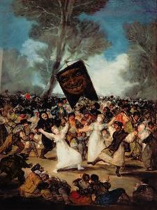 The Burial of the Sardine (Corpus Christi Festival on Ash Wednesday) circa 1812-19 by Francisco de Goya