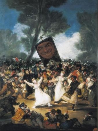 The Burial of the Sardine (Corpus Christi Festival on Ash Wednesday) by Francisco de Goya
