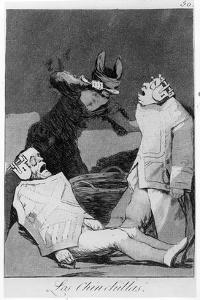 The Chinchillas, Plate 50 of 'Los Caprichos', 1799 (Etching and Aquatint) by Francisco de Goya