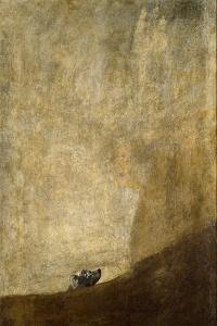 The drowning Dog. 1820-23 by Francisco de Goya