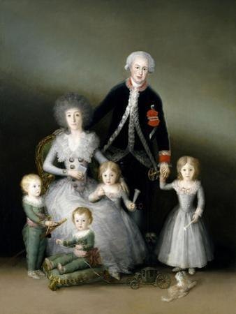 The Duke And Duchess of Osuna And Their Children, 1787, Spanish School by Francisco de Goya