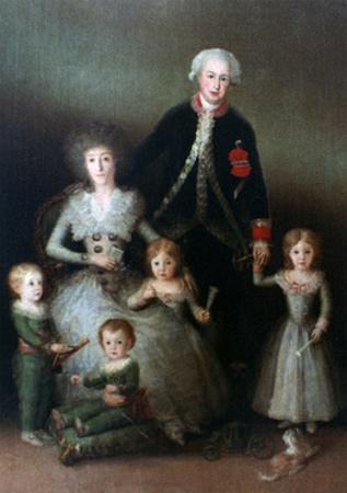 The Duke of Osuna and His Family, 1788 by Francisco de Goya