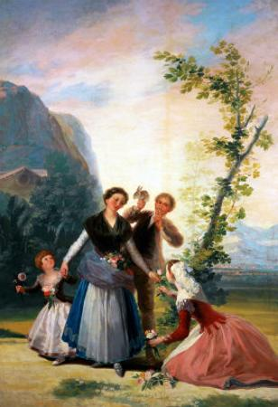 The Flower Girls (Spring), Cartoon for a Tapestry, 1786-1788 by Francisco de Goya
