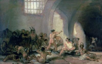 The Madhouse, 1812-15 by Francisco de Goya