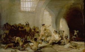 The Madhouse, about 1812/19 by Francisco de Goya
