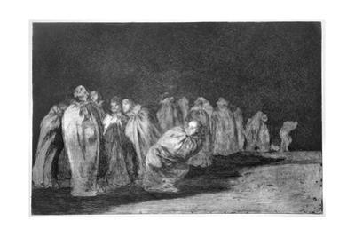 The Men in Sacks, Plate 8 of 'Proverbs', 1819-23, Pub. 1864 by Francisco de Goya