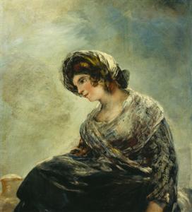 The Milkmaid of Bordeaux, about 1825-27 by Francisco de Goya