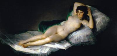 The Nude Maja, circa 1800 by Francisco de Goya