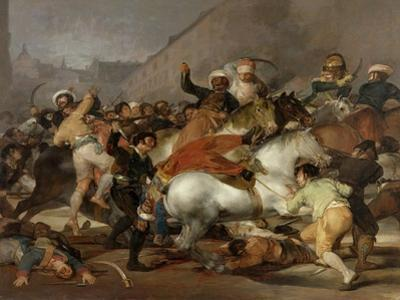The Second of May 1808 In Madrid: the Charge of the Mamelukes, 1814, Spanish School by Francisco de Goya