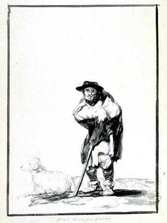 The Shepherd, C1760-1820 by Francisco de Goya