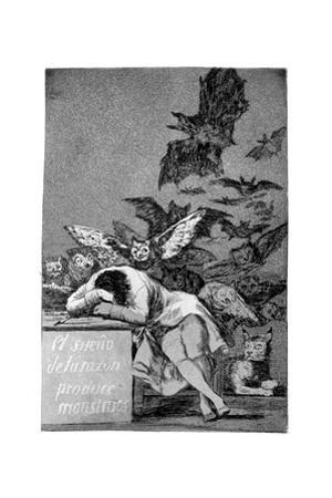 The Sleep of Reason Produces Monsters, 1799 by Francisco de Goya