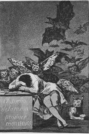 The Sleep of Reason Produces Monsters. (Capricho No 4), 1797-1798