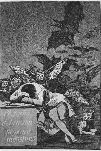 The Sleep of Reason Produces Monsters. (Capricho No 4), 1797-1798 by Francisco de Goya