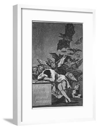 The Sleep of Reason Produces Monsters. (Capricho No 4), 1797-1798 by Francisco de Goya