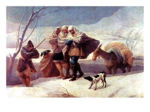 The Snowstorm by Francisco de Goya