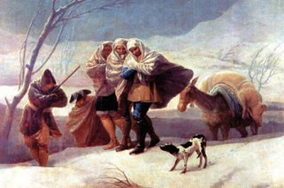 The Snowstorm by Francisco de Goya