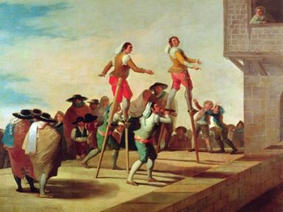 The Stilts, C.1791-92 by Francisco de Goya
