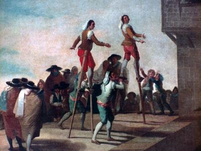 The Stilts, C1785 by Francisco de Goya