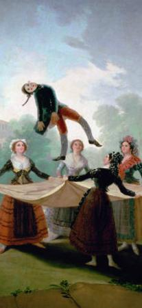 The Straw Mannequin, Cartoon for a Tapestry by Francisco de Goya