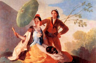 The Umbrellas by Francisco de Goya