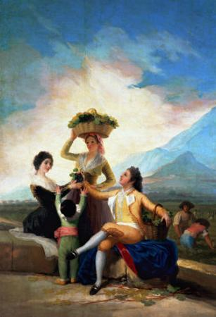 The Wine Harvest (Autumn), Cartoon for a Tapestry, 1786-1788 by Francisco de Goya