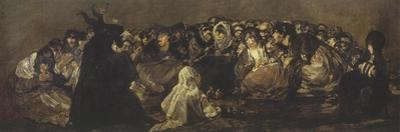 The Witches Sabbath, 1819-23, Black Painting by Francisco de Goya