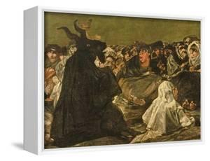 """The Witches' Sabbath or the Great He-Goat, (One of """"The Black Paintings""""), C.1821-23 (Detail) by Francisco de Goya"""