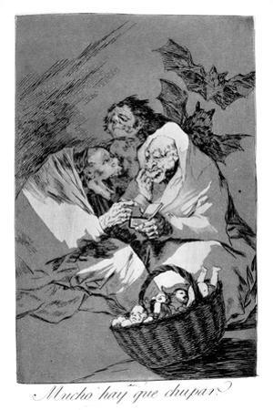 There Is Plenty to Suck, 1799 by Francisco de Goya