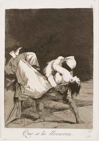 They Carried Her Off!, Plate Eight from Los Caprichos, 1797-99 by Francisco de Goya