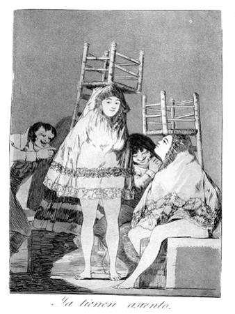They've Already Got a Seat, 1799 by Francisco de Goya
