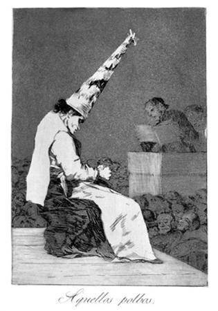 Those Specks of Dust, Perrico the Cripple, 1799 by Francisco de Goya
