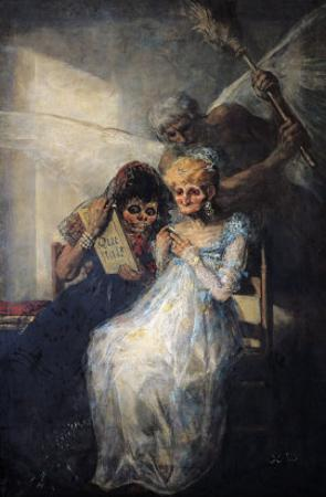 Time of the Old Women, 1820 by Francisco de Goya