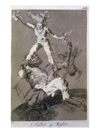 To Rise and to Fall, Plate 56 of 'Los caprichos', 1799 by Francisco de Goya