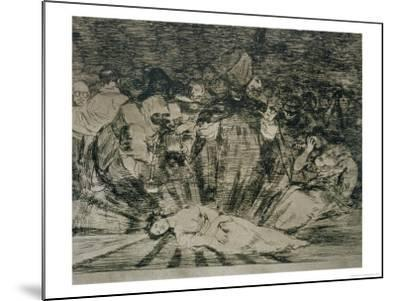 """Truth Has Died, Plate 79 of """"The Disasters of War,"""" 1810-14, Published 1863 by Francisco de Goya"""