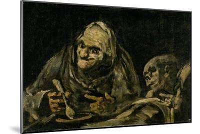 Two Old Men Eating Soup by Francisco de Goya