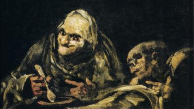 Two Old Men Eating by Francisco de Goya