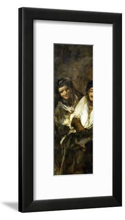 Two Women and a Man, One of the Black Paintings from the Quinta Del Sordo, Goya's House, 1819-1823 by Francisco de Goya