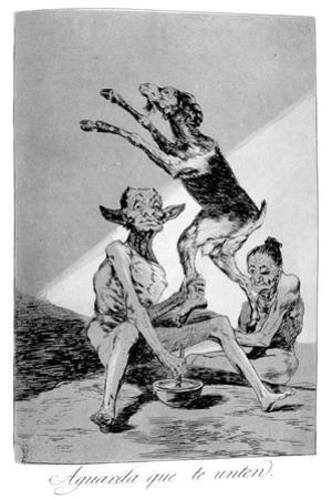 Wait Till You've Been Anointed, 1799 by Francisco de Goya