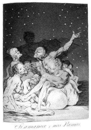When Day Breaks We Will Be Off!, 1799 by Francisco de Goya