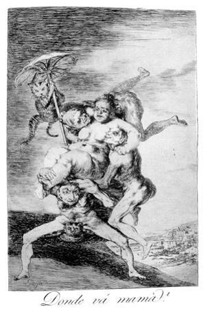Where Is Mother Going?, 1799 by Francisco de Goya