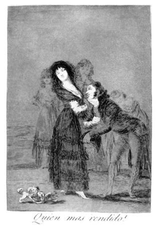 Which of Them Is More Overcome?, 1799 by Francisco de Goya
