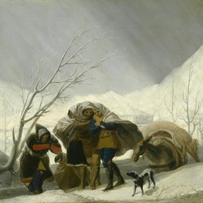 Winter Scene, C.1786 by Francisco de Goya