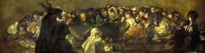 Witches' Sabbath (Acquelarre) by Francisco de Goya