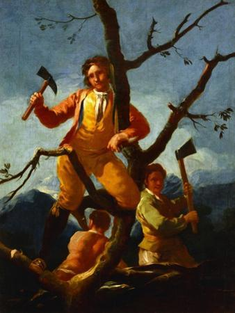 Woodcutters Cartoon for a Tapestry at the El Escorial; 1779-80 by Francisco de Goya