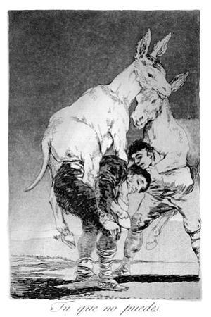You Who Cannot, 1799 by Francisco de Goya