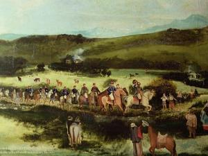 Simon Bolivar and Francisco De Paula Santander Travelling to Bogota by Francisco De Paula Alvarez