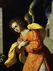 Angel Gabriel, from the Annunciation, 1638-39 (Detail) by Francisco de Zurbar?n